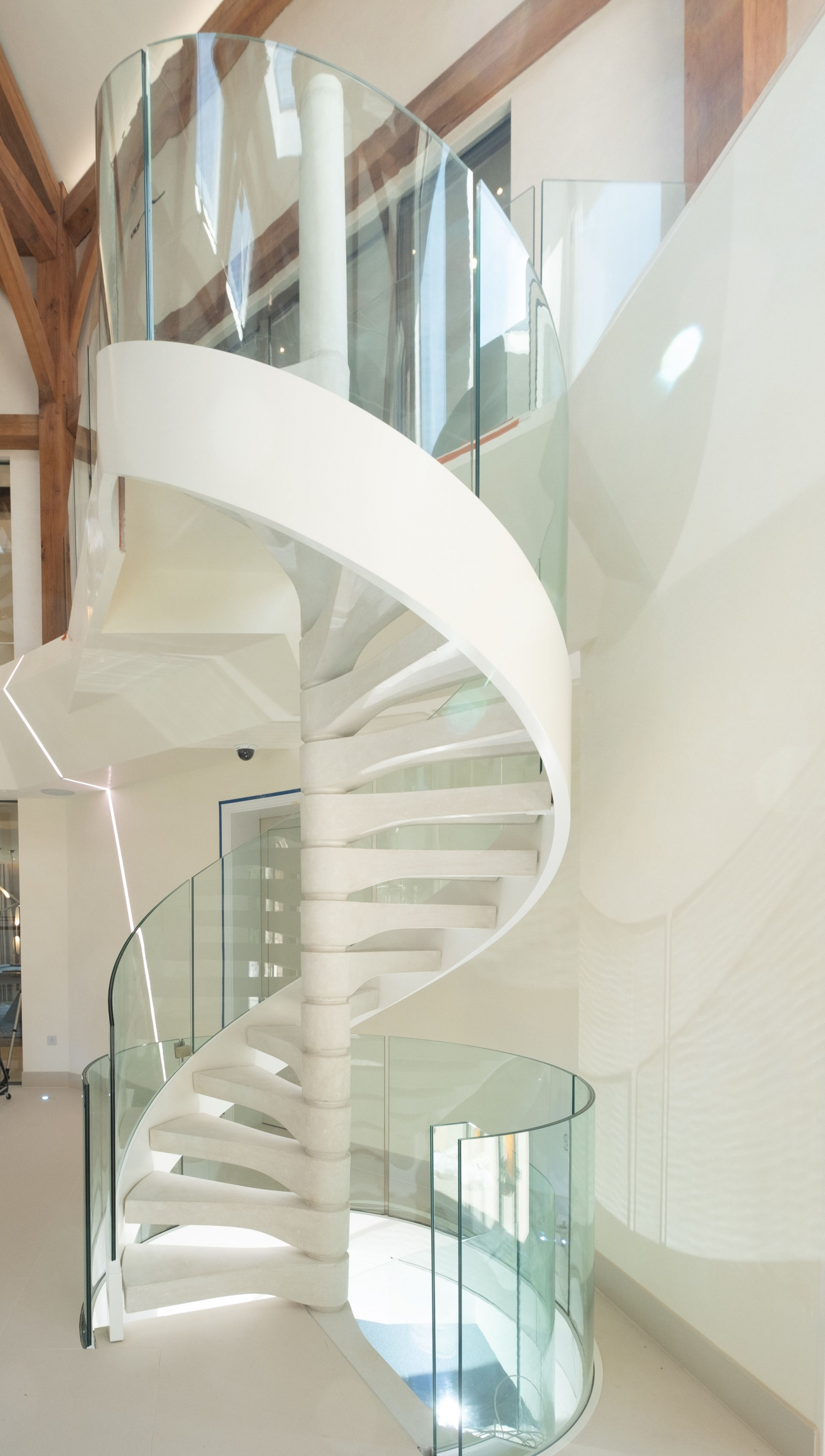 Curved Toughened Glass Balustrades